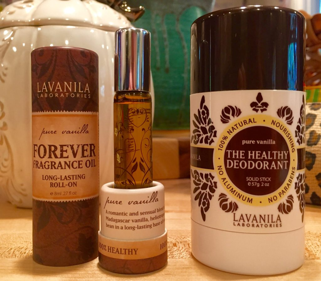 Lavanila Pure Vanilla oil and deodorant
