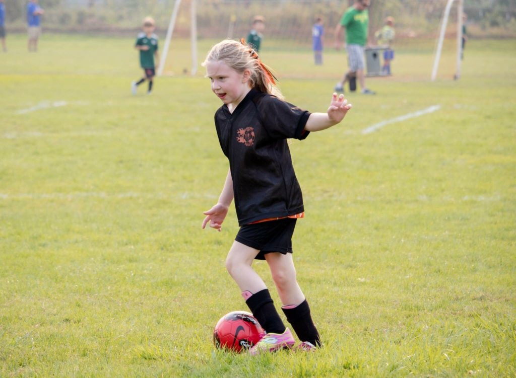 Lavender playing Soccer